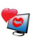 Kissing valentaine Royalty Free Stock Photos