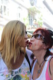Kissing Women Stock Image