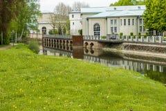 Kissingen mau, distrito mau de Kissingen, mais baixo Franconia, Baviera, Alemanha - 11 de maio de 2017: Construção famosa da arca fotografia de stock royalty free
