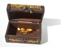 Kist met amber Royalty-vrije Stock Fotografie