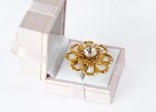 Kist met Gouden Juwelen Royalty-vrije Stock Afbeeldingen