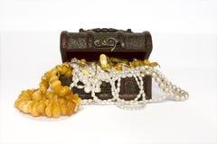 Kist met juwelen Royalty-vrije Stock Fotografie