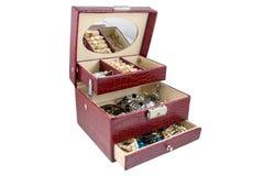 Kist met juwelen Royalty-vrije Stock Afbeeldingen