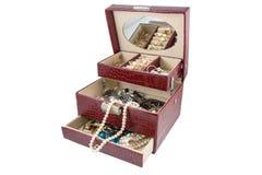 Kist met juwelen Stock Afbeeldingen