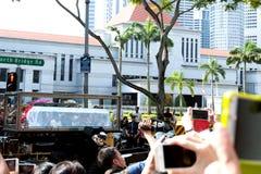 Kista av före dettapremiärministern av Singapore, Lee Kuan Yew Arkivbild