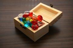 Kista av juvlar Arkivbilder