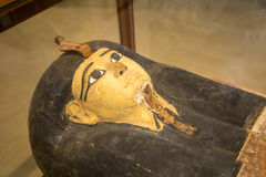 Kista för Tutankhamen ` s i egyptier arkivbild