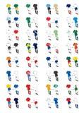 Kit 2010 del fútbol Ilustración del Vector