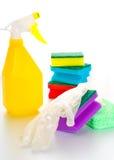 Kit bagnato di pulizia Fotografia Stock Libera da Diritti