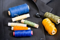 kit bawełny igła szwalny naparstek Zdjęcie Royalty Free