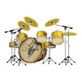 Kit bleu de tambour illustration libre de droits