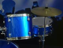 Kit blu del tamburo Fotografie Stock