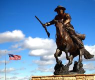 Kit Carson Bronze Statue Royalty Free Stock Photo