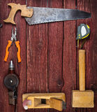Kit of construction tools and instruments Royalty Free Stock Photography