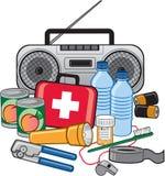 Kit d'état de préparation de survie de secours Image libre de droits