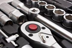 Kit d'outils métalliques Photographie stock libre de droits