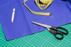 Kit de accesorios del sastre Imagen de archivo libre de regalías