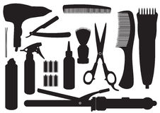 Kit de coiffure de vecteur illustration stock