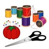 Kit de costura Foto de archivo libre de regalías