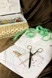 Kit de costura Imágenes de archivo libres de regalías