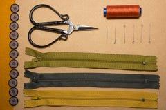 Kit de costura imagenes de archivo