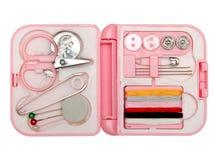 Kit de costura, agujas, cuerda de rosca Imágenes de archivo libres de regalías