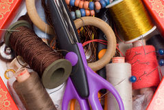 Kit de couture photographie stock libre de droits