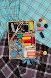 Kit de couture photos stock