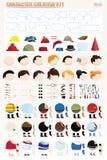 Kit de création de caractère Photos stock