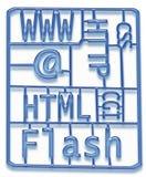 Kit de développement de conception de Web Photos stock