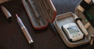 Kit de essai de glucose sanguin banque de vidéos