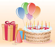 Kit de fête d'anniversaire photo libre de droits