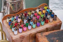 Kit de fil de couture de vintage Photo libre de droits