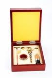 Kit de herramientas de la apertura del vino foto de archivo