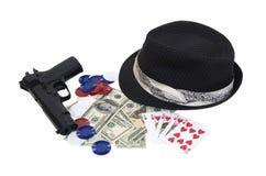 Kit de juego del gángster Fotografía de archivo