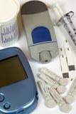 Kit de la autoprueba de la diabetes Foto de archivo libre de regalías