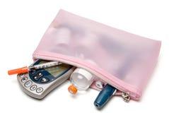 Kit de la diabetes Fotografía de archivo libre de regalías