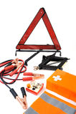 Kit de la emergencia para el coche imagenes de archivo