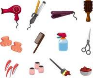 KIT de la peluquería de la historieta Imagenes de archivo