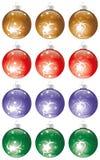 Kit de las bolas de la Navidad Fotos de archivo