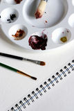 Kit de peinture Photographie stock libre de droits