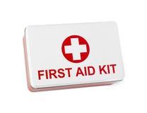 Kit de primeros auxilios Fotografía de archivo