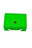 Kit de primeros auxilios aislado Foto de archivo