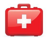 Kit de primeros auxilios aislado Imagen de archivo libre de regalías