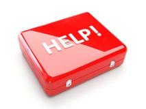 Kit de primeros auxilios (AYUDA) Fotos de archivo libres de regalías