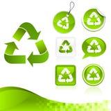 Kit de reciclaje verde del diseño Imagenes de archivo