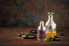 Kit de station thermale Shampooing, liquide de savon Gel de douche photo libre de droits
