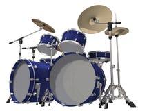 Kit de tambour d'isolement sur un blanc Image stock