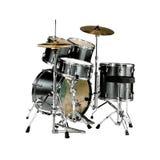 Kit de tambour noir images libres de droits