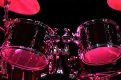 Kit de tambour sur l'étape Image stock